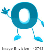 #43743 Royalty-Free (Rf) Illustration Of A 3d Turquoise Letter O Character With Arms And Legs