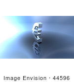 #44596 Royalty-Free (Rf) Illustration Of A 3d Euro Symbol On A Metallic Background - Version 2