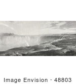 #48803 Royalty-Free Stock Illustration Of The Top Of The Niagara Falls by JVPD