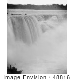 #48816 Royalty-Free Stock Photo Of Rushing Waters Of Horseshoe Falls Crashing Into Mist Below Niagara Falls