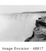 #48817 Royalty-Free Stock Photo Of A View From On Top Of Horseshoe Falls Niagara Falls