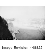 #48822 Royalty-Free Stock Photo Of Ice At The Bottom Of Horseshoe Falls As Seen From Goat Island Niagara Falls