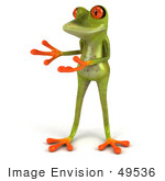 #49536 Royalty-Free (Rf) Illustration Of A 3d Red Eyed Tree Frog Presenting