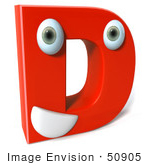 #50905 Royalty-Free (Rf) Illustration Of A 3d Red Character Letter D
