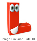 #50910 Royalty-Free (Rf) Illustration Of A 3d Red Character Letter L
