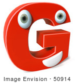 #50914 Royalty-Free (Rf) Illustration Of A 3d Red Character Letter G
