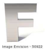 #50922 Royalty-Free (Rf) Illustration Of A 3d Chrome Alphabet Letter F
