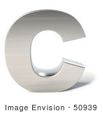 #50939 Royalty-Free (Rf) Illustration Of A 3d Chrome Alphabet Letter C