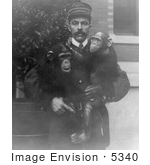 #5340 Man With Chimps