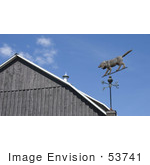 #53741 Royalty-Free Stock Photo Of A Dog Weathervane