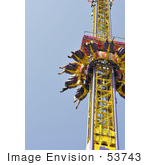 #53743 Royalty-Free Stock Photo Of Amusement Ride