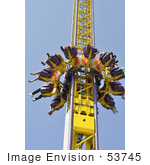 #53745 Royalty-Free Stock Photo Of Amusement Ride