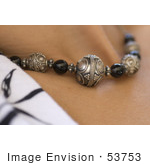 #53753 Royalty-Free Stock Photo Of A Closeup Of A Necklace On A Woman&Rsquo;S Neck