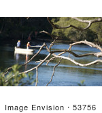 #53756 Royalty-Free Stock Photo Of Bare Branches With Men Fishing