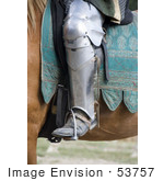 #53757 Royalty-Free Stock Photo Of A Knight&Rsquo;S Leg