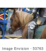 #53763 Royalty-Free Stock Photo Of A Knight&Rsquo;S Horse