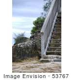 #53767 Royalty-Free Stock Photo Of Beach Stairs