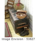 #53827 Royalty-Free Stock Photo Of A Sewing Basket