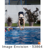 #53864 Royalty-Free Stock Photo Of A The Dive