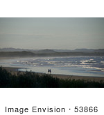 #53866 Royalty-Free Stock Photo Of People Strolling On A Beach