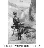 #5426 Man On A Bicycle Yellowstone Park