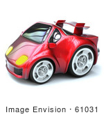#61031 Royalty-Free (Rf) Illustration Of A 3d Compact Sports Car - Version 2