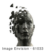 #61033 Royalty-Free (Rf) Illustration Of A 3d Woman&Rsquo;S Head With Floating Particles - Version 7