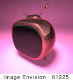 #61225 Royalty-Free (Rf) Illustration Of A 3d Pink Retro Tv - Version 4