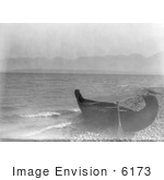#6173 Canoe On Shore At Flathead Lake Montana