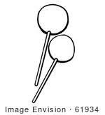 #61934 Clipart Of Lollipops In Black And White - Royalty Free Vector Illustration