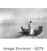 #6279 Kutenai Woman With Canoe