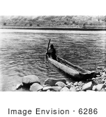 #6286 Nez Perce In Canoe