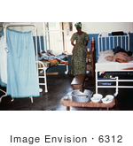 #6312 Picture Of A Lassa Fever Patient Recovering At The Segbwema Sierra Leone Clinic