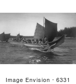 #6331 Kwakiutl Indian Canoes