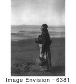 #6381 Chinook Woman On Beach