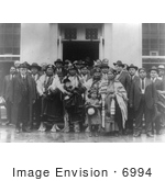 #6994 Stock Image Of Osage Indians At The White House
