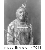#7048 Apsaroke Native American Indian Man Named Sitting Elk