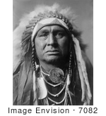 #7082 Stock Photography: Apsaroke Indian Called White Man Runs Him
