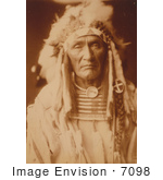 #7098 Stock Photography: Apsaroke Native American Man Young Hairy Wolf