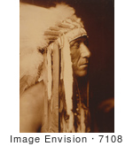 #7108 Stock Photography: Crow Indian Man Pretty Paint