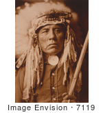 #7119 Stock Photography: Apsaroke Native American Man Called Curley