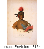 #7134 Moa-Na-Hon-Ga/Great Walker Ioway Indian Chief