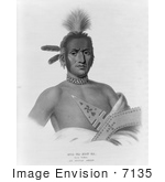 #7135 Moa-Na-Hon-Ga/Great Walker Ioway Indian Chief