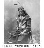#7158 Stock Image: Sioux Indian Named Bone Necklace