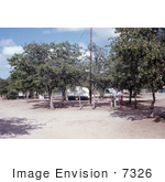 #7326 Picture Of A Health Official Walking Through A Beitbridge Rhodesian Campground During The Marburg Investigation Of 1975