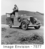 #7577 Picture Of Dorothea Lange On Top Of A Car