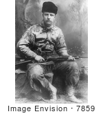 #7859 Picture Of Theodore Roosevelt Holding A Rifle