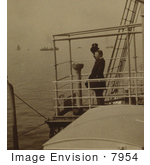 #7954 Picture Of Roosevelt Saluting War Ships