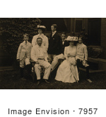 #7957 Picture Of Edith Kermit Carow And Teddy Roosevelt With Children