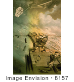 #8157 Picture Of Ulysses S Grant Flying Kites